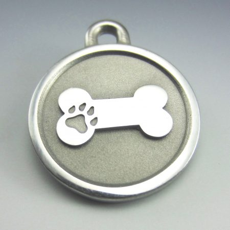 medium Stainless Steel Bone durable pet chew proof tag
