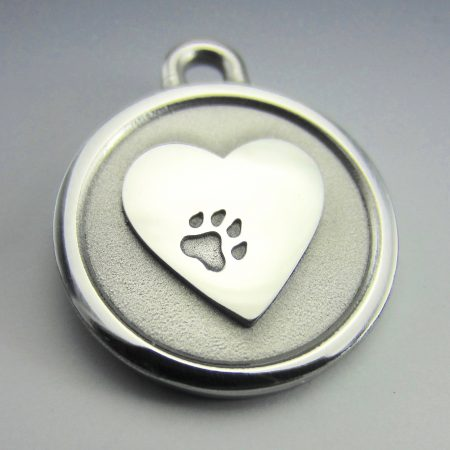 medium stainless steel heart lifetime guaranteed chew proof dog id tag