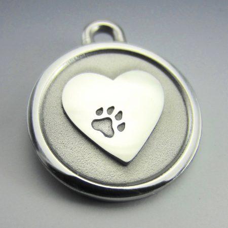 medium stainless steel heart lifetime guaranteed chew proof dog id tag